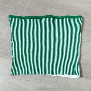 Tube top green stretchy bright